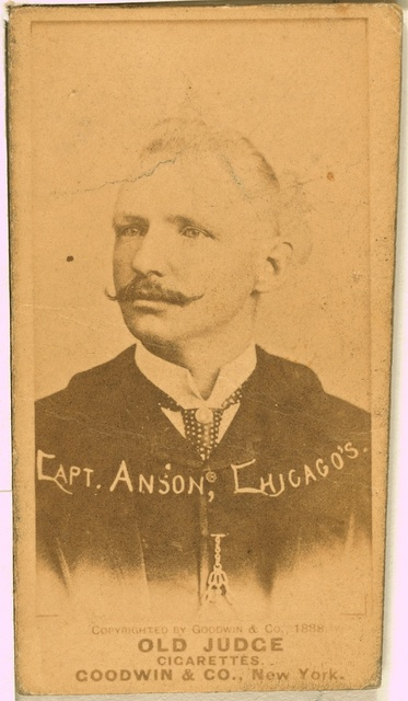 [Capt. Anson, Chicago White Stockings, baseball card portrait]