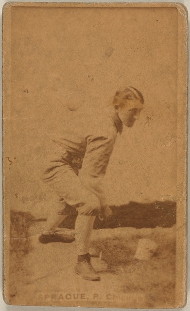 [Charlie Sprague, Chicago White Stockings, baseball card portrait]
