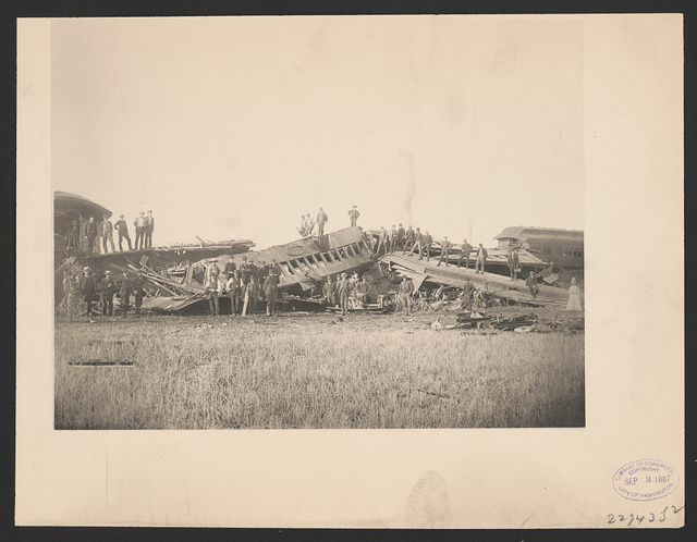 Chatsworth horror. Full view of the wreck, Aug. 11, 1887