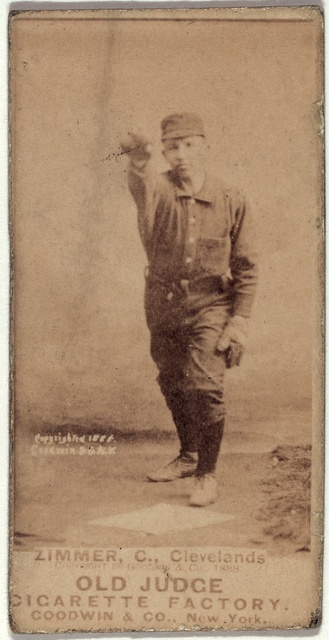 [Chief Zimmer, Cleveland Spiders, baseball card portrait]
