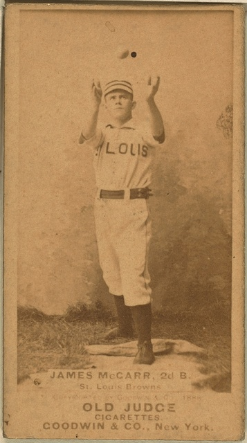 [Chippy McCarr, St. Louis Browns, baseball card portrait]