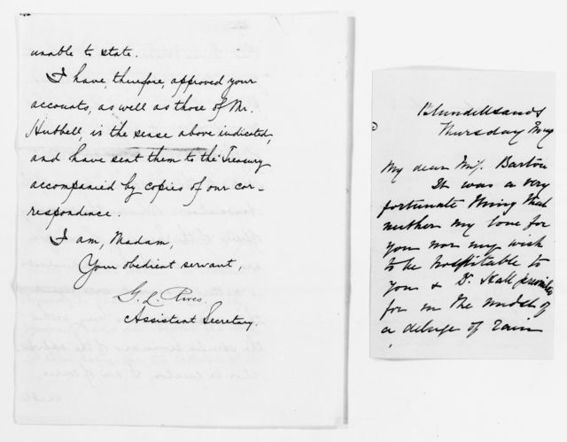 Clara Barton Papers: Red Cross File, 1863-1957; International Committee of the Red Cross, 1863-1919; Conferences; Fourth International Red Cross Conference, Karlsruhe, Germany, Sept. 1887; Correspondence, 1887-1888, undated