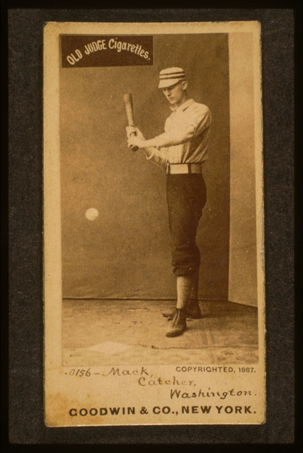 [Connie Mack, Washington Statesmen, baseball card portrait]