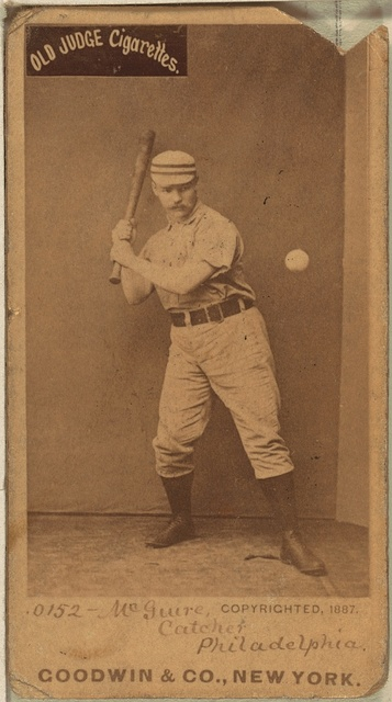 [Deacon McGuire, Philadelphia Quakers, baseball card portrait]