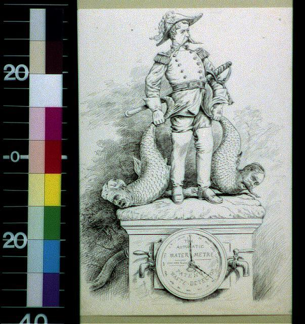 Design for a grand military Marine monument