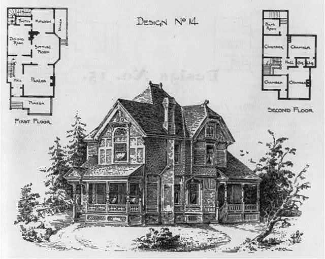 Design no. 14. Frame two-story dwelling