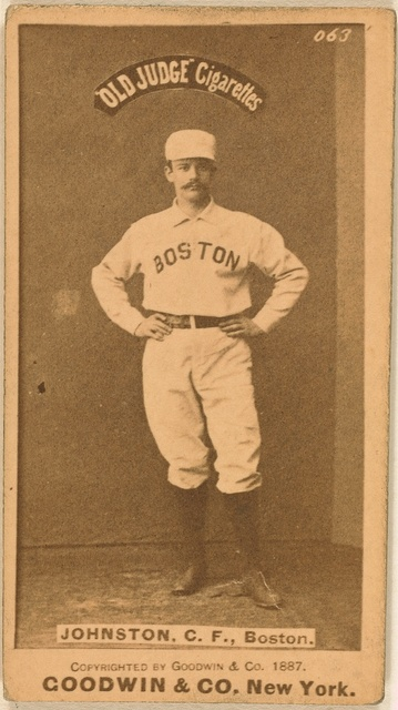[Dick Johnston, Boston Beaneaters, baseball card portrait]