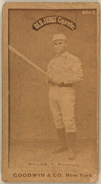 [Doggie Miller, Pittsburgh Alleghenys, baseball card portrait]