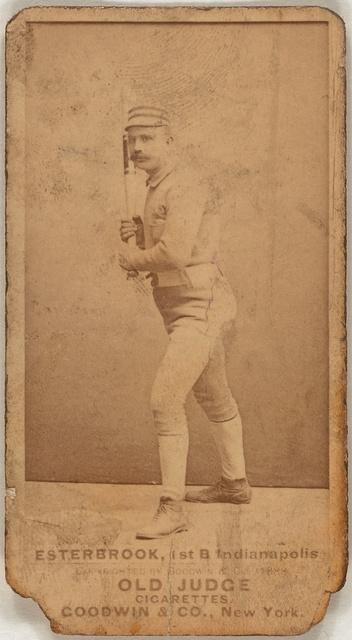 [Dude Esterbrook, Indianapolis Hoosiers, baseball card portrait]