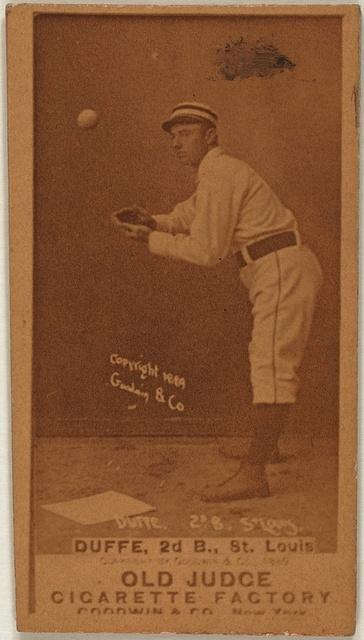 [Duffee, St. Louis Browns, baseball card portrait]