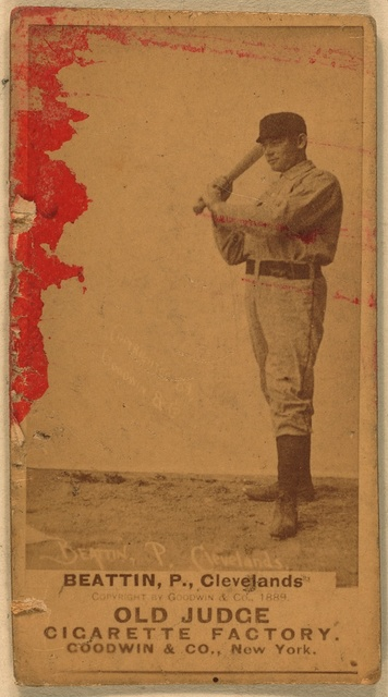 [Eb Beatin, Cleveland Spiders, baseball card portrait]