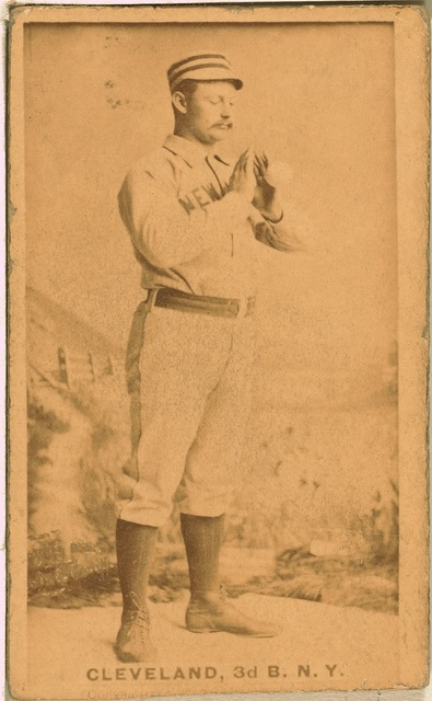 [Elmer Cleveland, New York Giants, baseball card portrait]