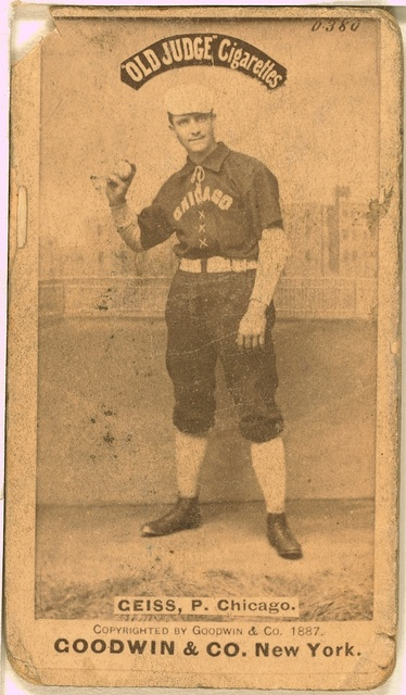 [Emil Geiss, Chicago White Stockings, baseball card portrait]