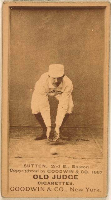 [Ezra Sutton, Boston Beaneaters, baseball card portrait]