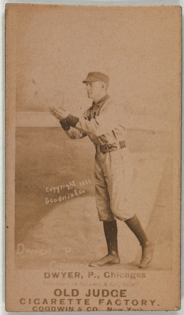 [Frank Dwyer, Chicago White Stockings, baseball card portrait]