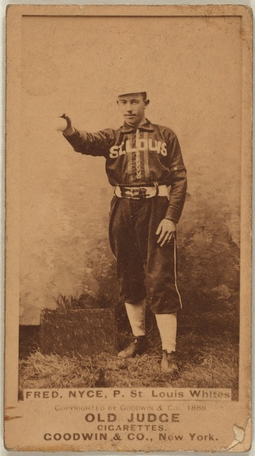 [Fred Nyce, St. Louis Whites, baseball card portrait]