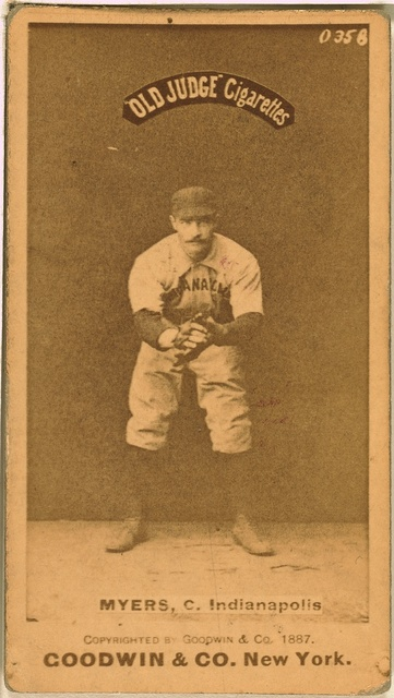 [George Myers, Indianapolis Hoosiers, baseball card portrait]