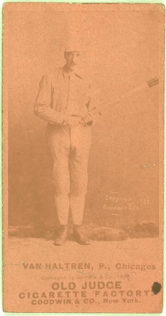 [George Van Haltren, Chicago White Stockings, baseball card portrait]
