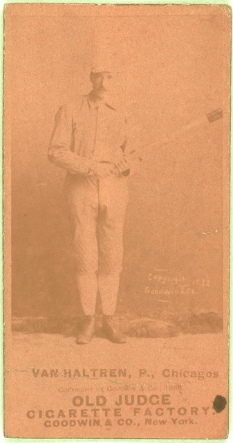 [George Van Haltren, Chicago White Stockings, baseball card portrait]