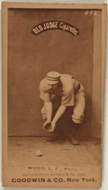 [George Wood, Philadelphia Quakers, baseball card portrait]