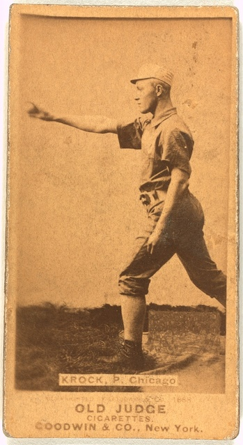 [Gus Krock, Chicago White Stockings, baseball card portrait]