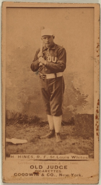 [H. Hines, St. Louis Whites, baseball card portrait]