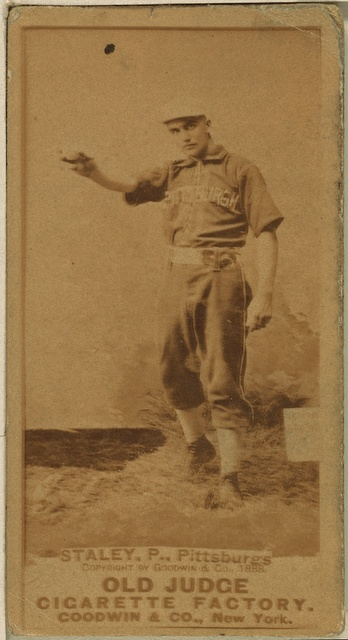 [Harry Staley, Pittsburgh Alleghenys, baseball card portrait]