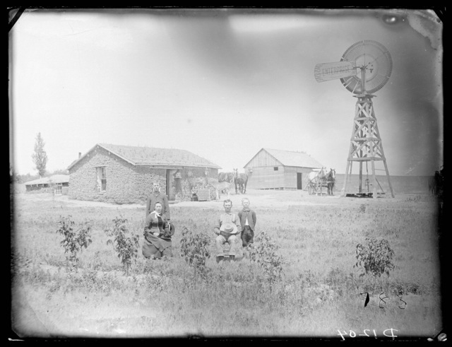 """""""In Front of Our Home"""", Custer County, Nebraska."""