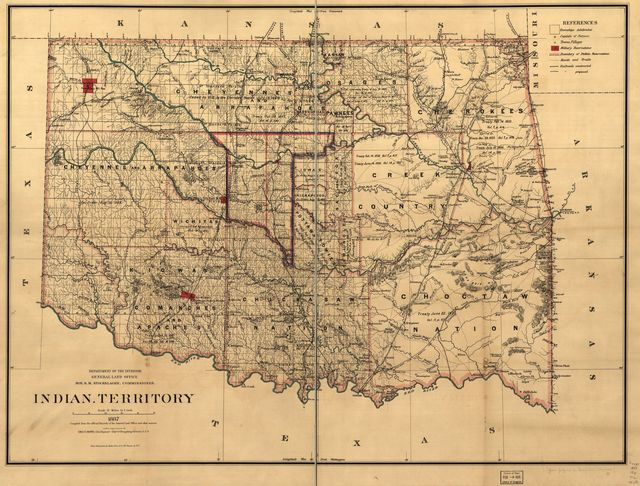Indian territory: compiled from the official records of the records of the General Land Office and other sources under supervision of Geo. U. Mayo.