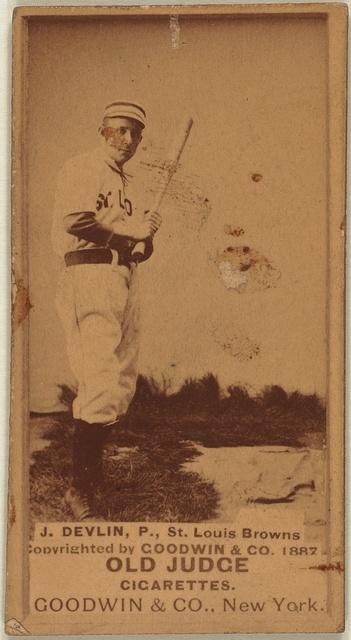 [J. Devlin, St. Louis Browns, baseball card portrait]