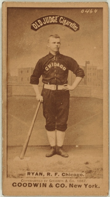 [J. Ryan, Chicago White Stockings, baseball card portrait]
