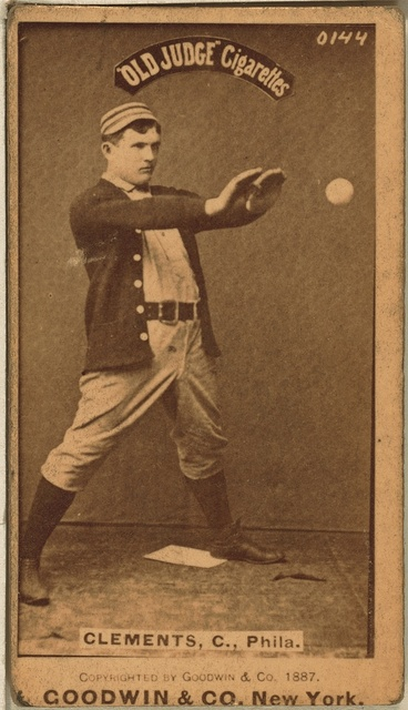 [Jack Clements, Philadelphia Quakers, baseball card portrait]