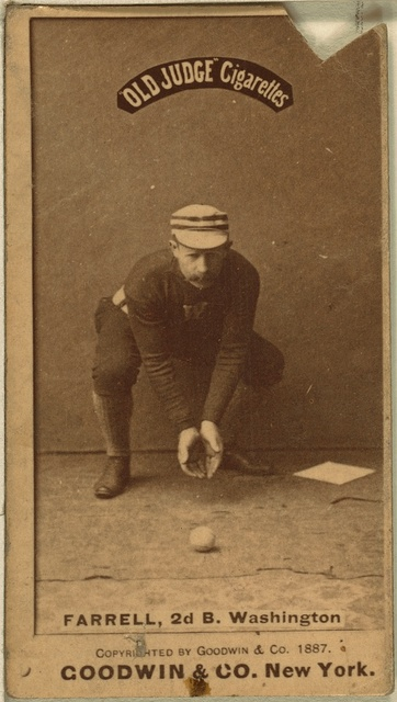 [Jack Farrell, Washington Statesmen, baseball card portrait]