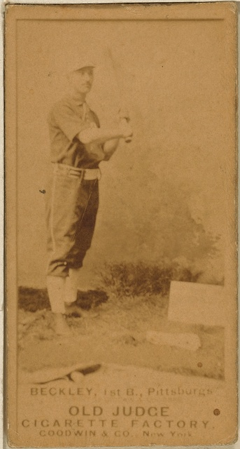 [Jake Beckley, Pittsburgh Alleghenys, baseball card portrait]