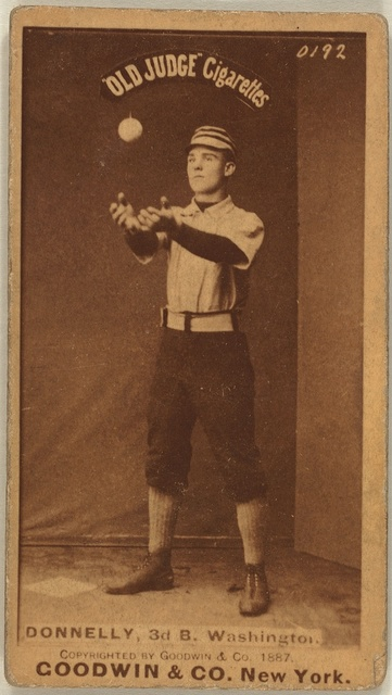 [Jim Donnelley, Washington Statesmen, baseball card portrait]