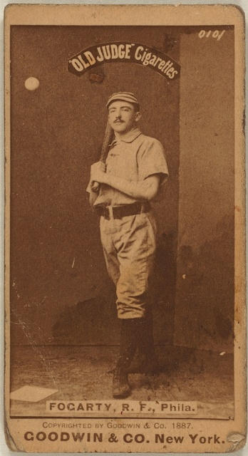 [Jim Fogarty, Philadelphia Quakers, baseball card portrait]
