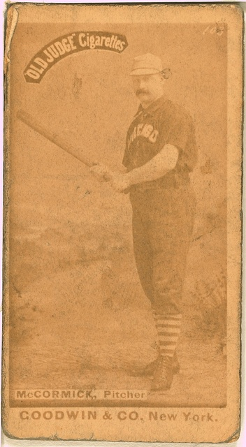 [Jim McCormick, Chicago White Stockings, baseball card portrait]