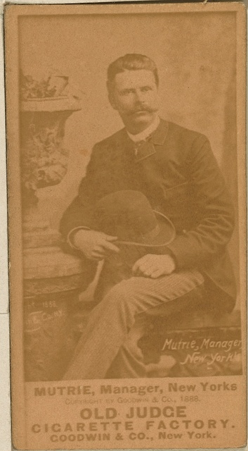 [Jim Mutrie, New York Giants, baseball card portrait]