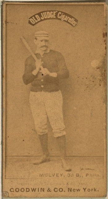[Joe Mulvey, Philadelphia Quakers, baseball card portrait]