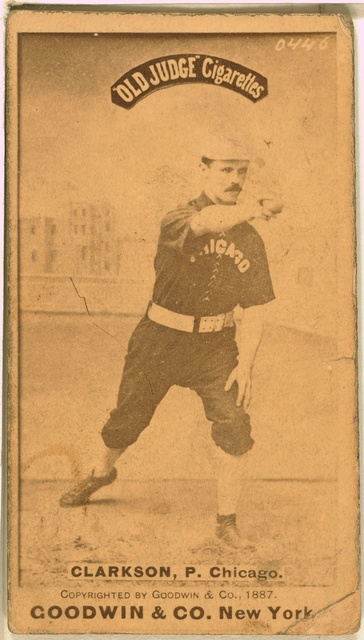 [John Clarkson, Chicago White Stockings, baseball card portrait]