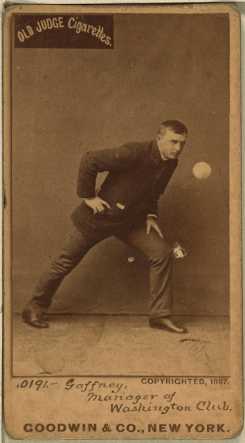 [John Gaffney, Washington Statesmen, baseball card portrait]