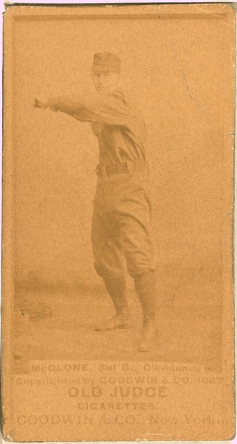 [John McGlone, Cleveland Spiders, baseball card portrait]