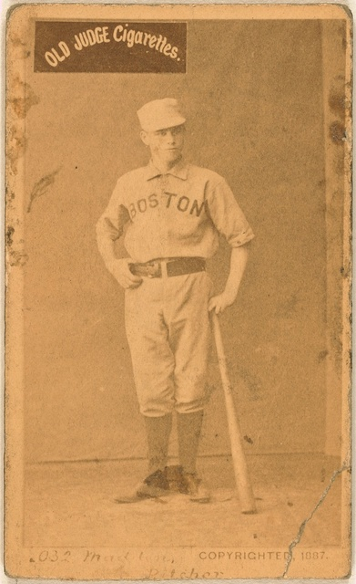 [Kid Madden, Boston Beaneaters, baseball card portrait]