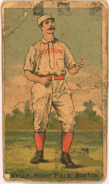 [King Kelly, Boston Beaneaters, baseball card portrait]