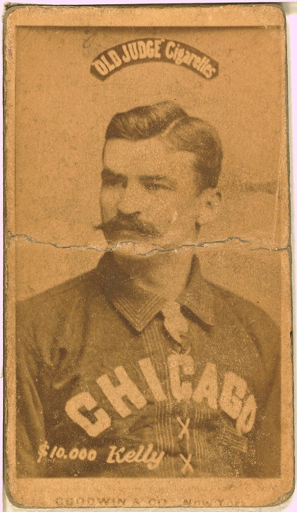 [King Kelly, Chicago White Stockings, baseball card portrait]