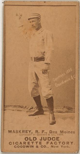 [Leech Maskrey, Des Moines Team, baseball card portrait]