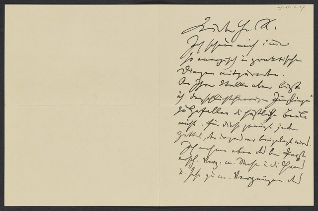 [Letter, 1887 März 24, Wien to] K. [Keller]