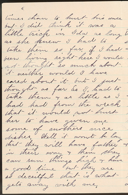 Letter from Laura I. Oblinger to Uriah W. Oblinger, July 22, 1887