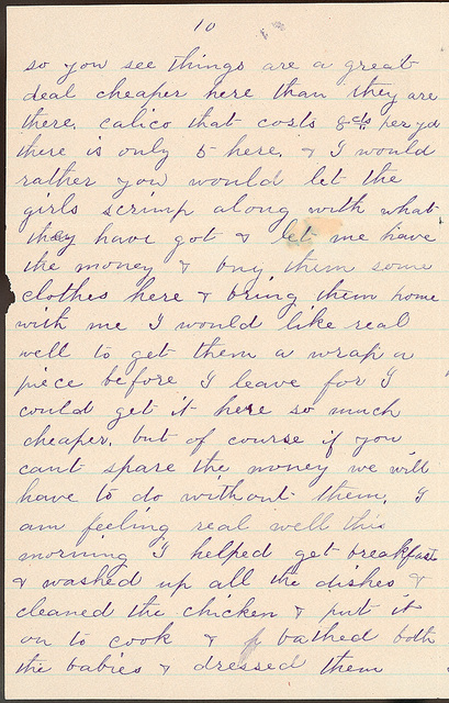Letter from Laura I. Oblinger to Uriah W. Oblinger, July 3, 1887