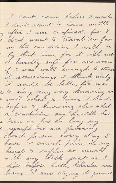 Letter from Laura I. Oblinger to Uriah W. Oblinger, July 31, 1887